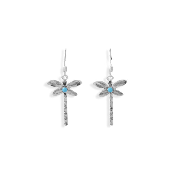 Creatively Crafted! Navajo Turquoise Dragonfly Earrings