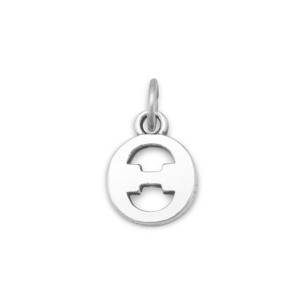 Greek Alphabet Letter Charm - Theta
