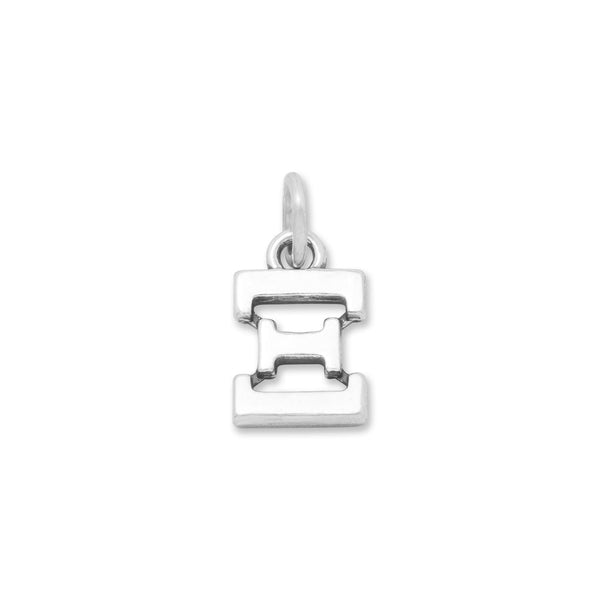 Greek Alphabet Letter Charm - Xi