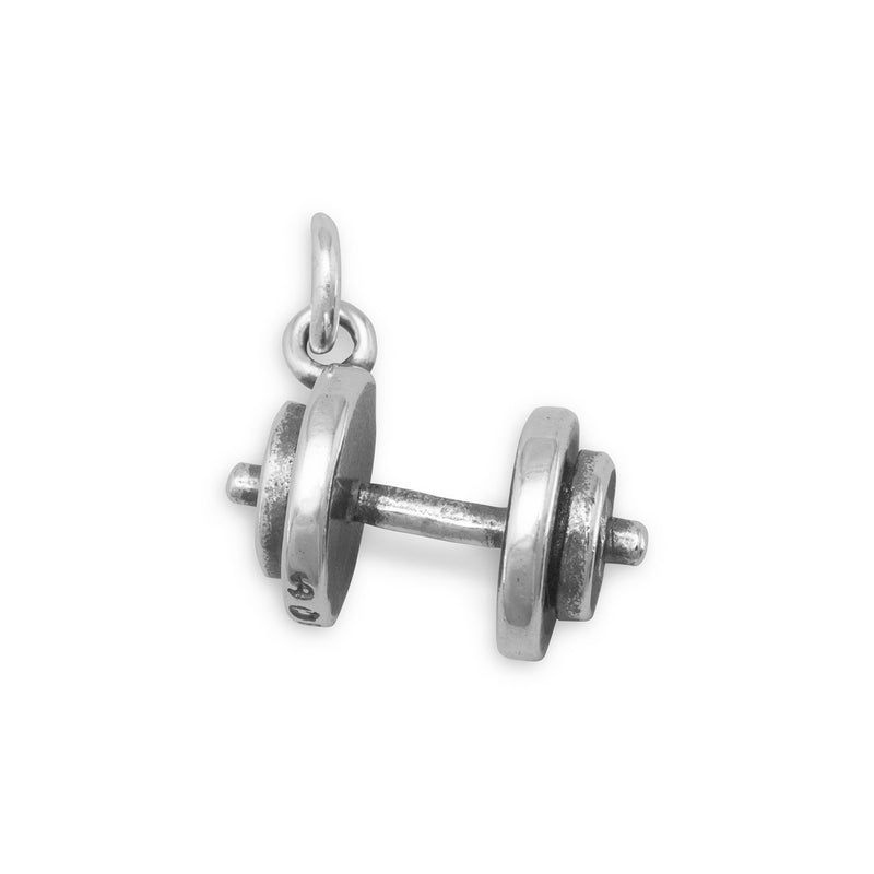 Oxidized Dumbbell Charm