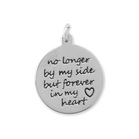 "Oxidized ""Forever in My Heart"" Charm."