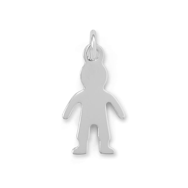 Rhodium Plated Boy Charm