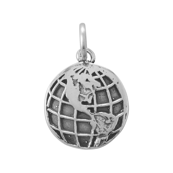 World Traveler! Globe Charm