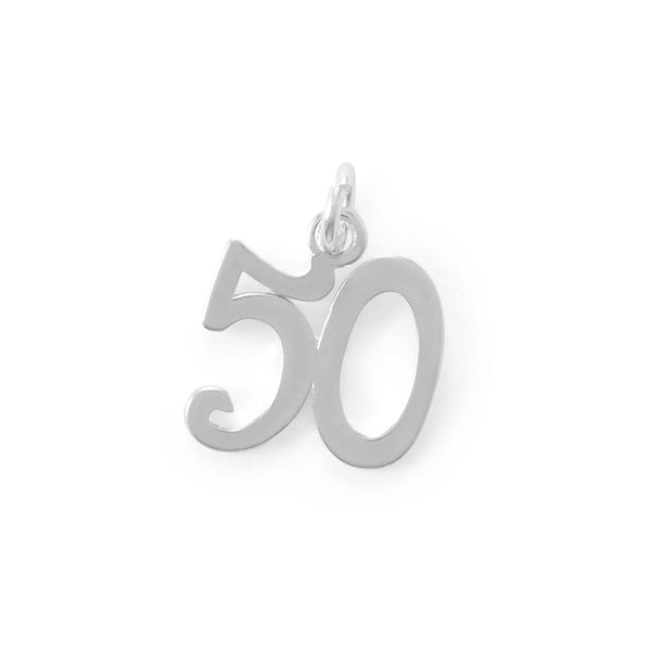 "Fifty rocks! ""50"" Charm"