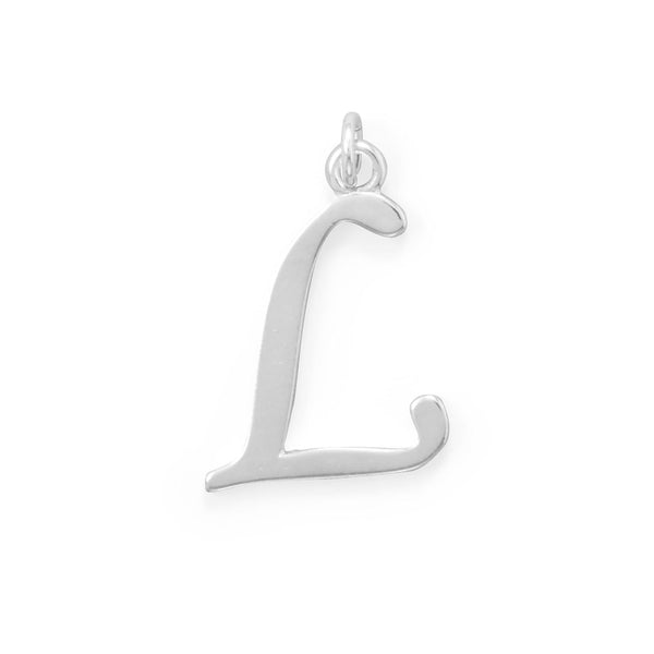 Polished Letter L Initial Pendant