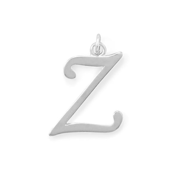 Polished Letter Z Initial Pendant