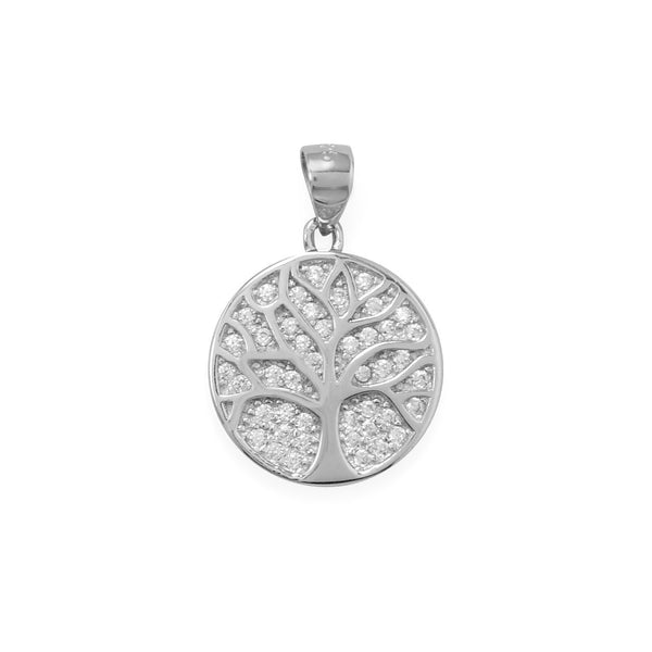 """Fresh Start"" CZ Tree of Life Pendant"