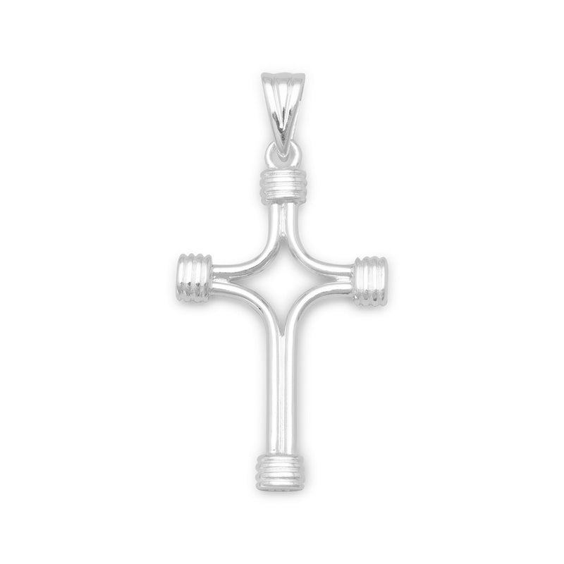 Polished Cross with Wrapped Ends