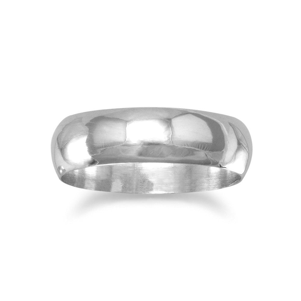 Polished 5mm Solid Band Ring