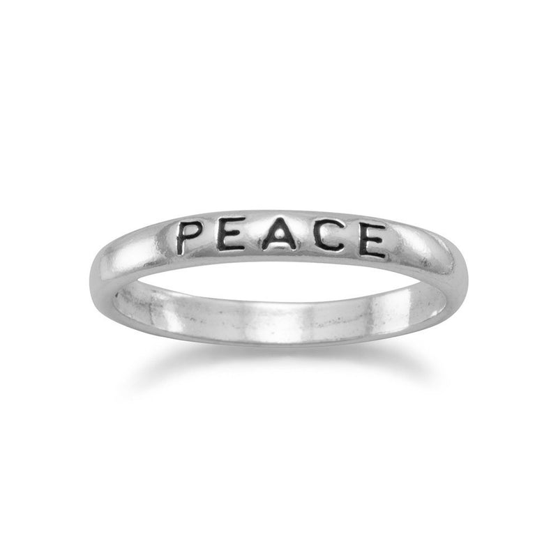 "Oxidized ""Peace"" Band"