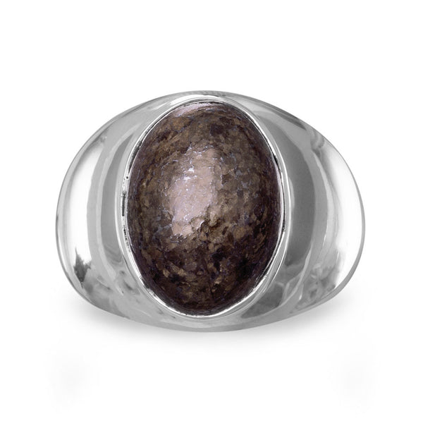 Oval Bronzite Ring