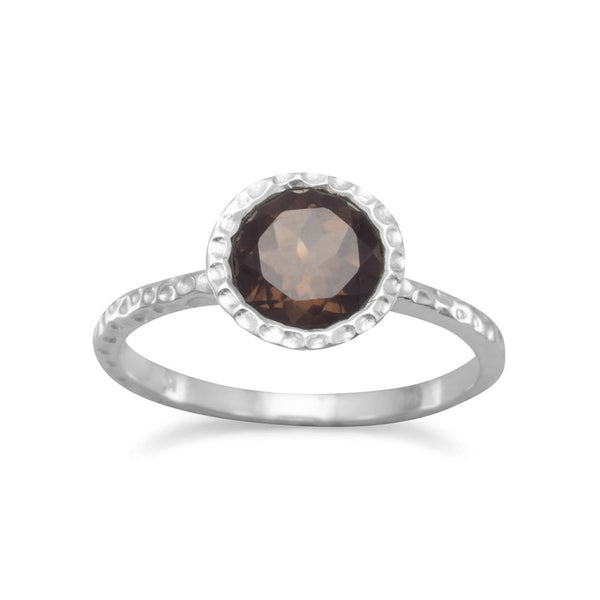 Stackable Smoky Quartz Ring