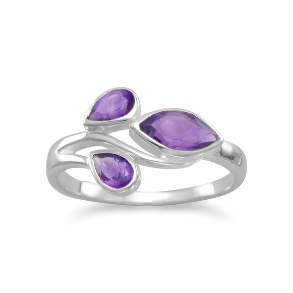 Pear and Marquise Amethyst Ring