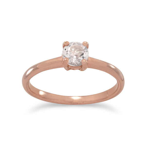 14 Karat Rose Gold Plated Morganite Ring