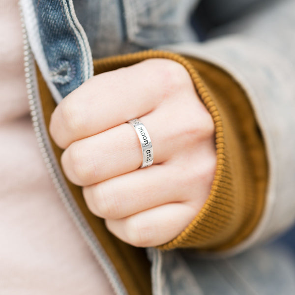 """Love you to the moon and back"" Ring"