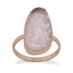 14 Karat Rose Gold Plated Rose Quartz Ring