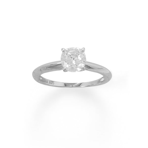 Rhodium Plated 7mm CZ Band