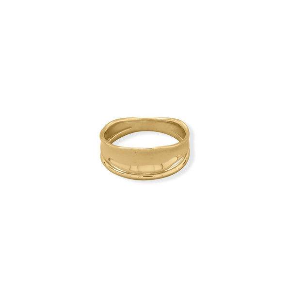 14 Karat Gold Plated Split Design Ring