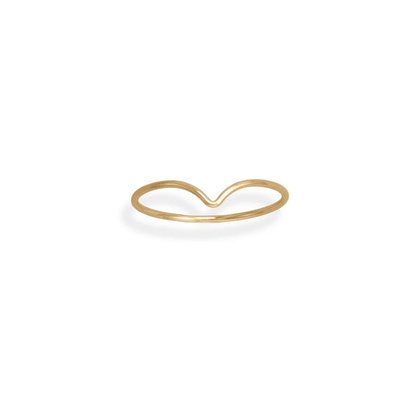 "14/20 Gold Filled Thin ""V"" Design Ring"