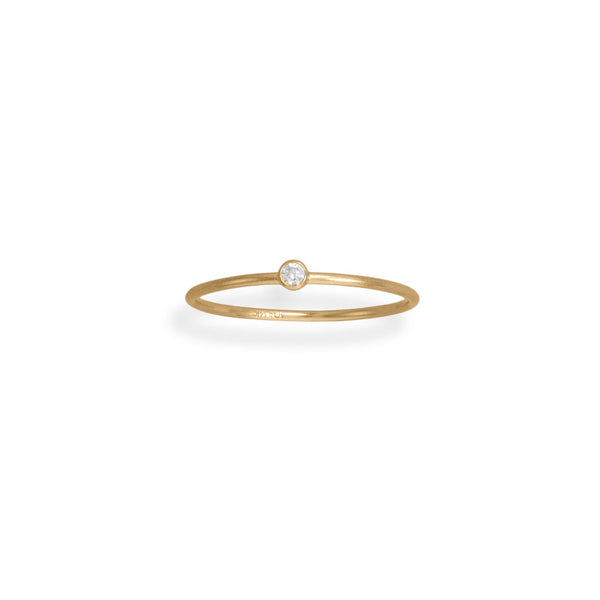 14/20 Gold Filled CZ Thin Ring