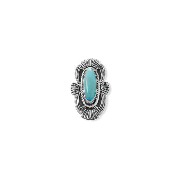 Admired Adornments! Native American Campitos Turquoise Ring