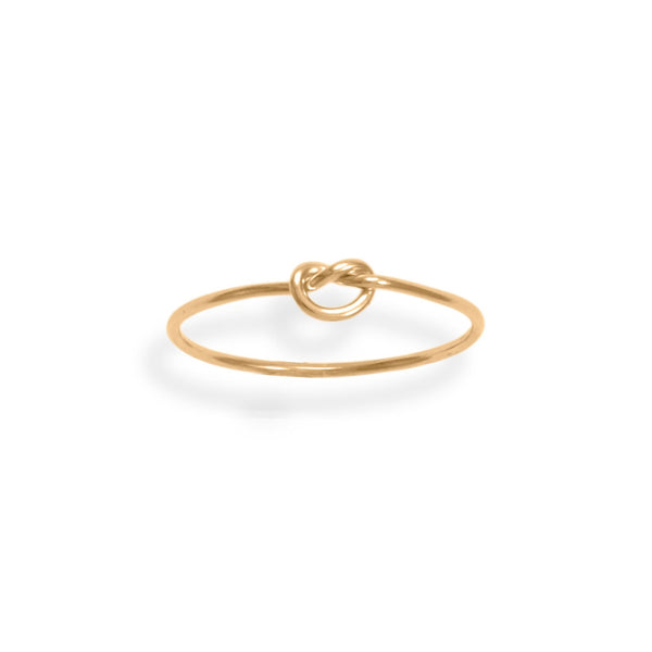 14/20 Gold Filled Thin Love Knot Ring