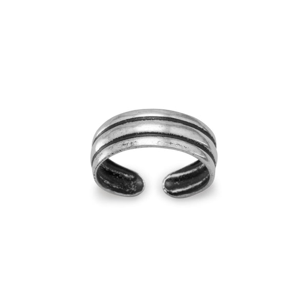 3 Ridge Toe Ring