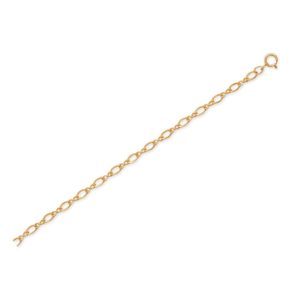 "9""+1"" 14/20 Gold Filled Figure 8 Chain Anklet"