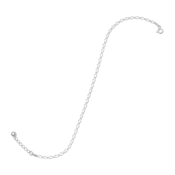 "9"" + 1"" Extension Rombo/Figaro Chain Anklet"