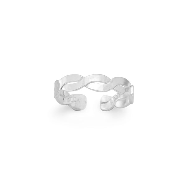 Polished Twist Toe Ring