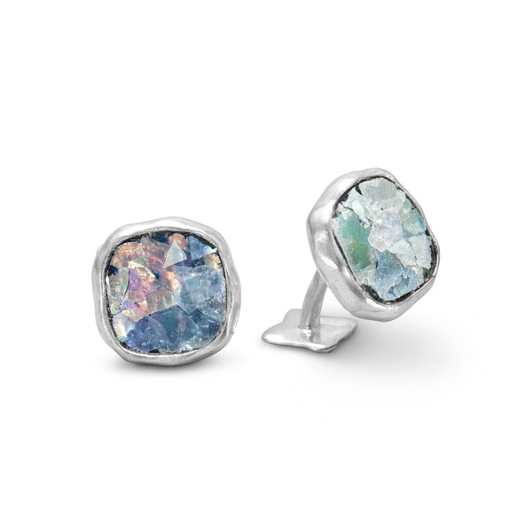 Ancient Roman Glass Cuff Links