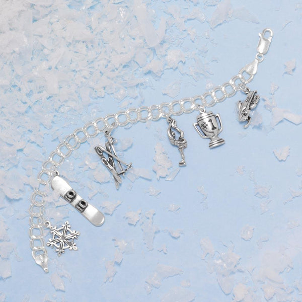Oxidized Snowmobile Charm