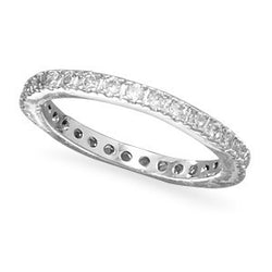 Rhodium Plated Brass Eternity Ring