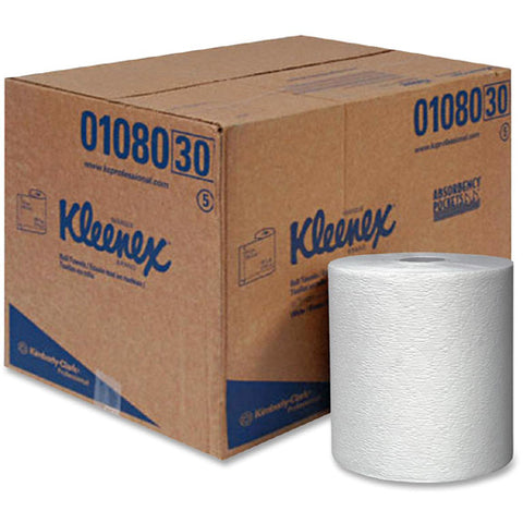 KLEENEX 8X425 WHITE 1PLY ROLL TOWEL