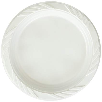 "6"" LAMINATED FOAM PLATE - WHITE"
