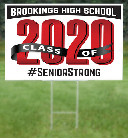 Brookings School Senior 2020 Sign