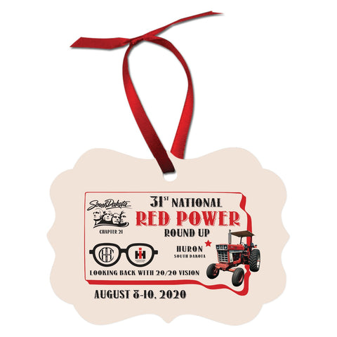 Red Power Round Up 2020 Christmas Ornament