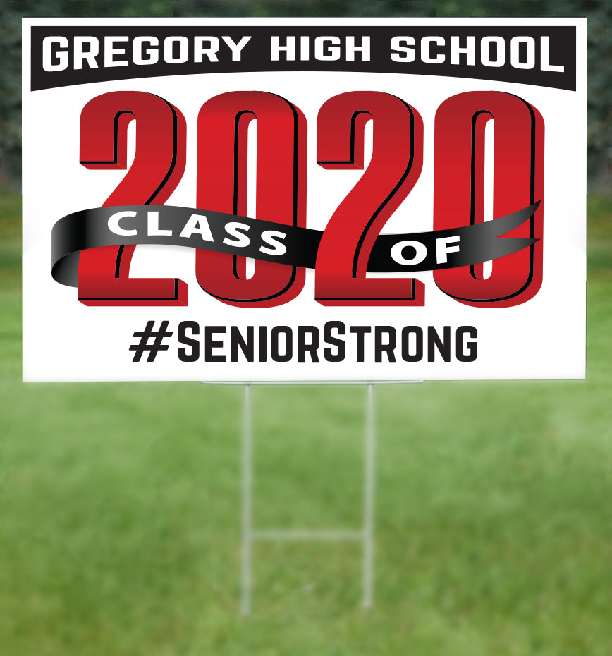 Gregory School Senior 2020 Sign