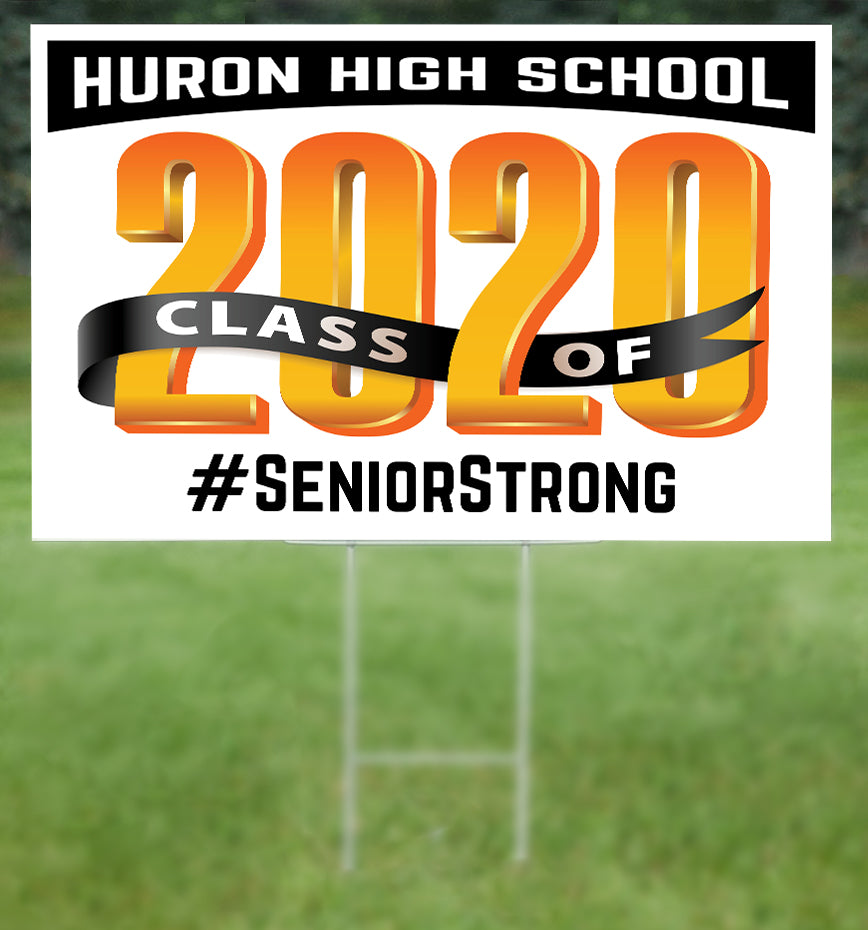 Huron School Senior 2020 Sign