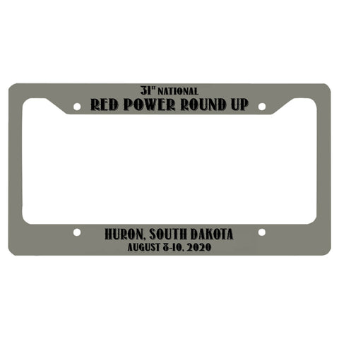 Red Power Round Up 2020 License Plate Holder