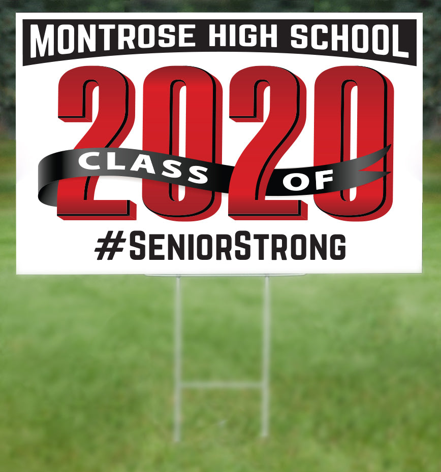 Montrose School Senior 2020 Sign