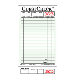 GUEST CHECK BOOKLETS