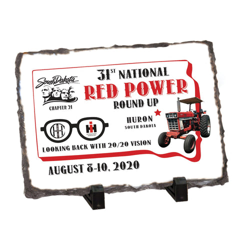 Red Power Round Up 2020 Stone Display Plaque