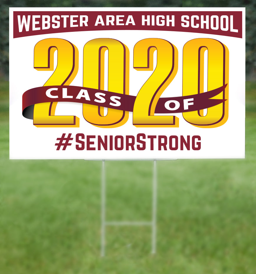 Webster Area School Senior 2020 Sign