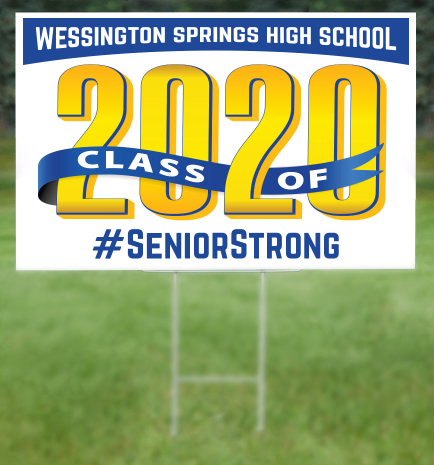 Wessington Springs School Senior 2020 Sign