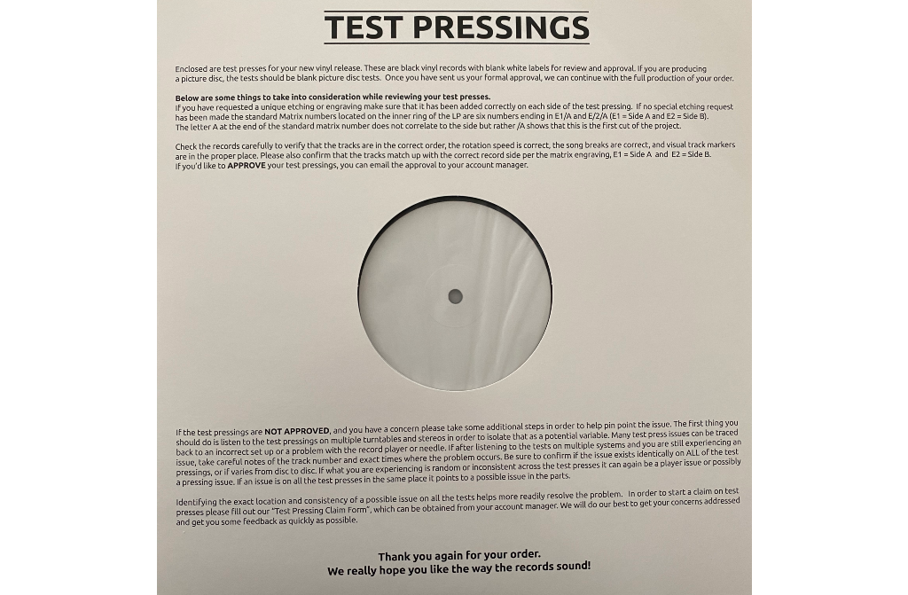 You Know The Drill - Selfhood Test Pressing
