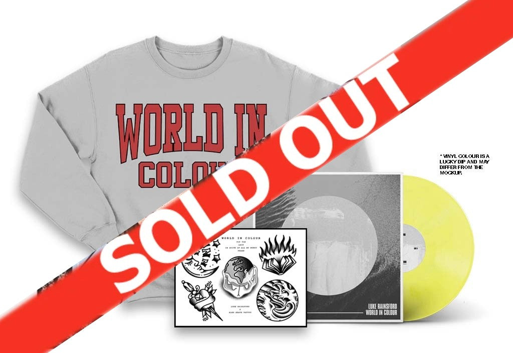 Luke Rainsford - World In Colour LP, Crew Neck & Print