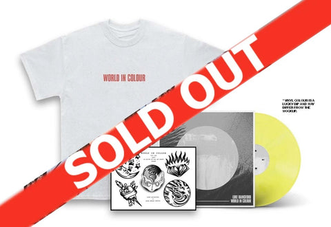 Luke Rainsford - World In Colour LP, T-Shirt & Print Bundle
