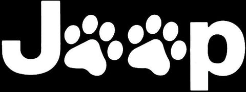 Dog Jeep Decal Sticker