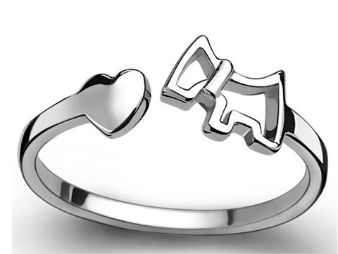 Sterling Silver Dog Rings